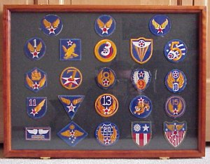 Aviation Wings and Badges of World War 2 - Display Cases