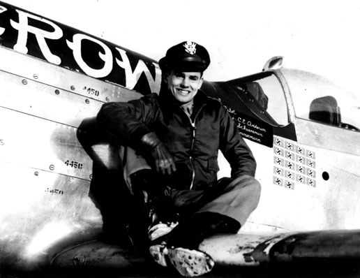 Panasonic Slow Juicer Harvey Norman : Col. Anderson on the wing of his P-51D Old Crow