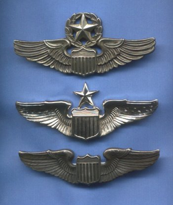 The wings above cover Col. Williams career in the Air Force.