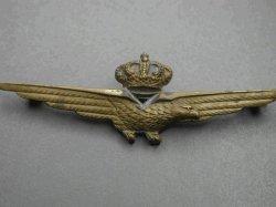 Patent Pilot Aeronautica Rèpublicaine Rsi Italian WW2 Pilot Badge